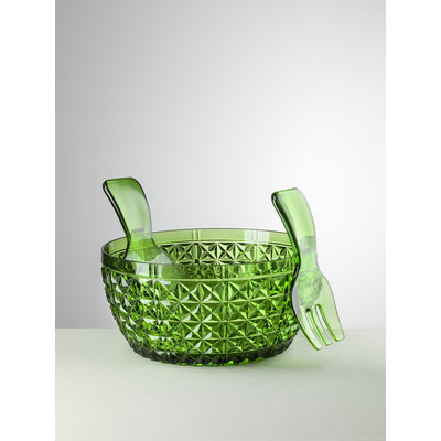 MARIO LUCA GIUSTI Churchill Acrylic Salad Bowl & Server Set - Green