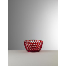 MARIO LUCA GIUSTI Lente Small Red Serving Bowl in Acrylic
