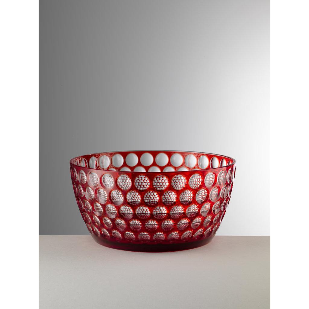 MARIO LUCA GIUSTI  Lente Grand bol de service rouge en acrylique