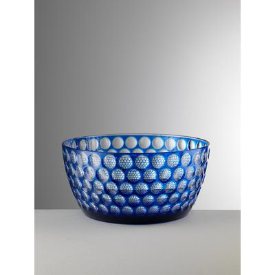 MARIO LUCA GIUSTI Lente Large Acrylic Serving Bowl - Blue