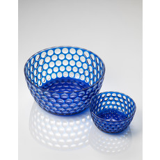 MARIO LUCA GIUSTI Lente Large Blue Serving Bowl in Acrylic