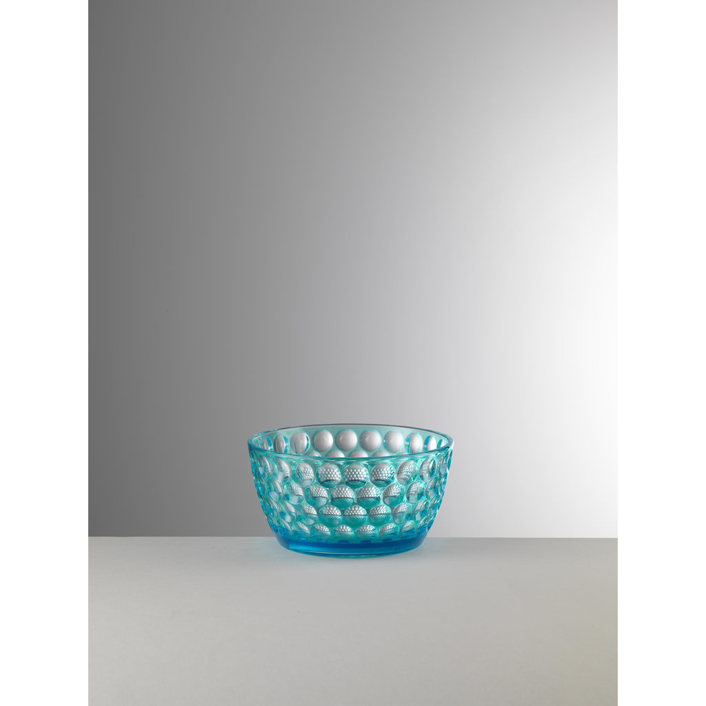 MARIO LUCA GIUSTI Lente Small Turquoise Serving Bowl in Acrylic