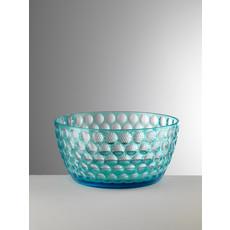 MARIO LUCA GIUSTI Lente Large Turquoise Serving Bowl in Acrylic