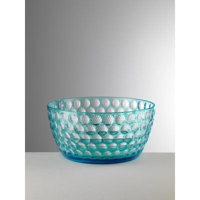 MARIO LUCA GIUSTI Lente Large Acrylic Serving Bowl - Turquoise