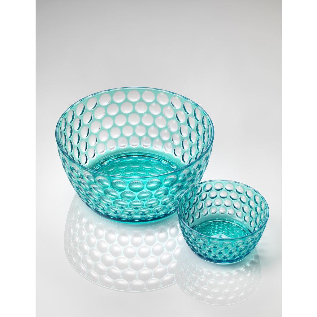 MARIO LUCA GIUSTI  Lente Grand bol de service turquoise en acrylique