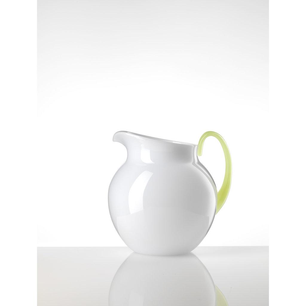 MARIO LUCA GIUSTI  Petit pichet Pallina blanc et néon en acrylique