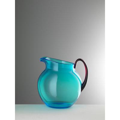 MARIO LUCA GIUSTI Small Pallina Acrylic Pitcher - Turquoise & Ruby