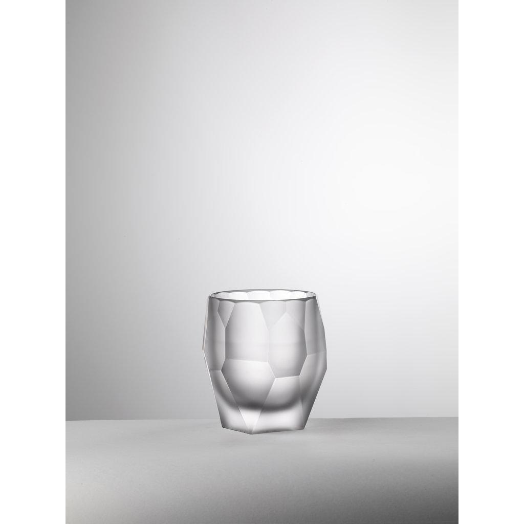 MARIO LUCA GIUSTI  Seau Filippo en acrylique blanc givré