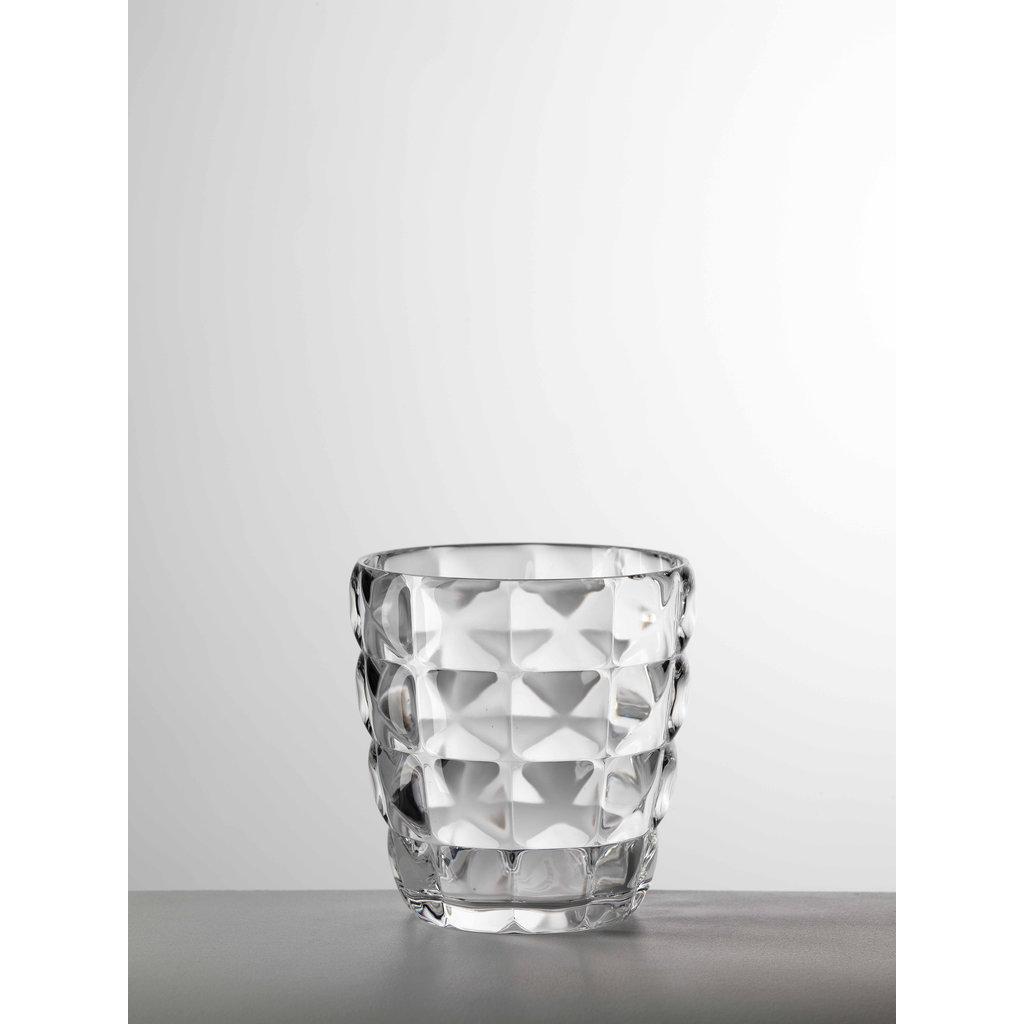 MARIO LUCA GIUSTI  Diamante Petit Gobelet Transparent en Acrylique Lot de 6