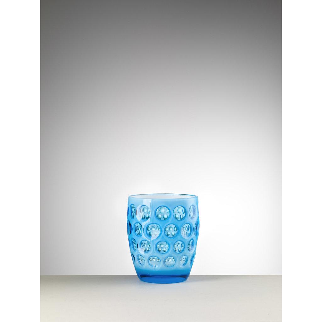 MARIO LUCA GIUSTI  Lente Petit Gobelet Turquoise en Acrylique  Lot de 6