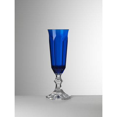 MARIO LUCA GIUSTI Flûte à champagne Dolce Vita en acrylique lot de 6- Bleu
