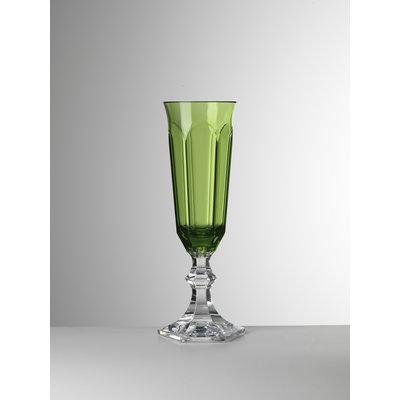 MARIO LUCA GIUSTI Acrylic Dolce Vita Champagne Flute set of 6- Green