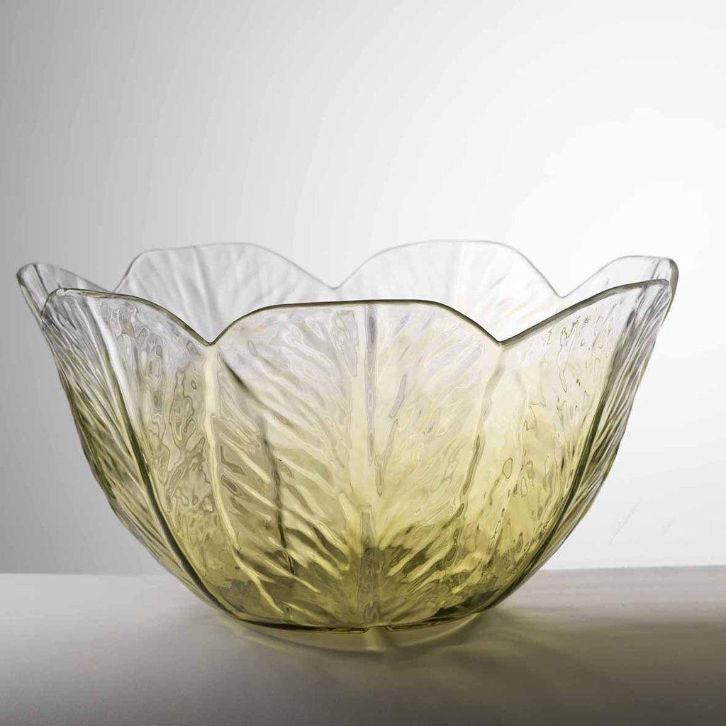 MARIO LUCA GIUSTI Green Large Lattuga Salad Bowl in Acrylic