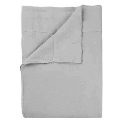 DESIGNERS GUILD Biella Pale Grey & Dove King Flat Sheet 106 X 118'' - 270 X 300 Cm