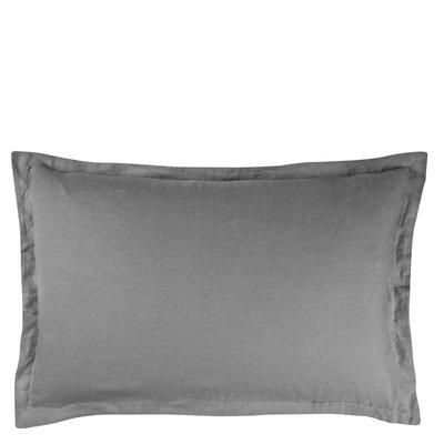 DESIGNERS GUILD Biella Pale Grey & Dove Queen Sham 30 X 20'' - 75 X 50 Cm