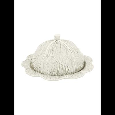 BORDALLO PINHEIRO Plateau à fromage en céramique Chou avec couvercle - Beige