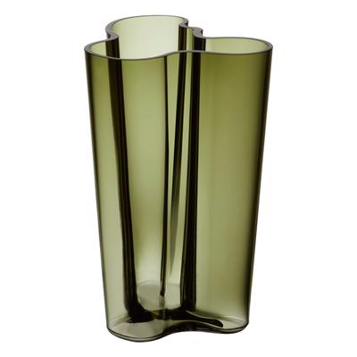 LITTALA Aalto Glass Vase 8.75'' - Moss Green