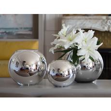 CHRISTOFLE Uni Vase Grand En Verre Soufflé Métallisé 13 3/16'' - 33.5 Cm