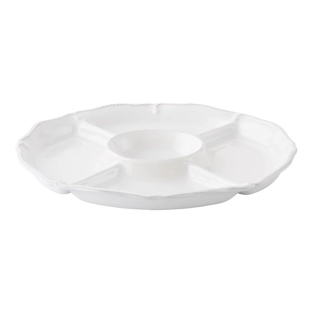 "Whitewash Crudité Platter 15.25""L, 12.25""W"