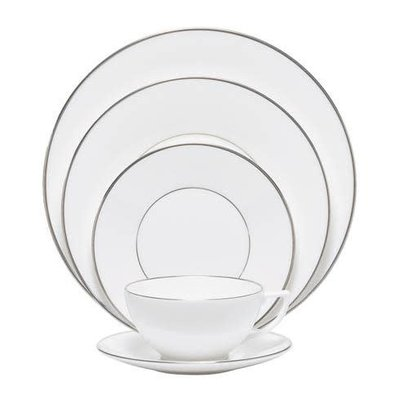 WEDGWOOD Conran Platinum 5-Piece Place Setting Lined