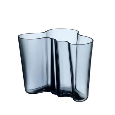 IITTALA Aalto Glass Vase 6.25''X5.5'' - Blue Grey