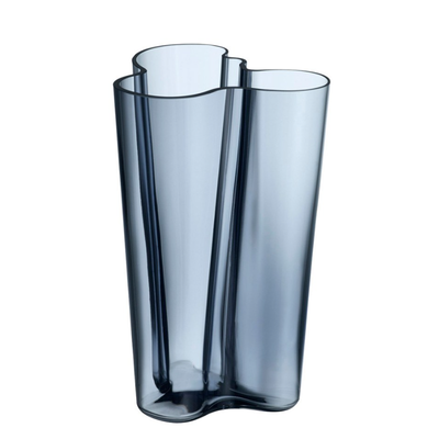 LITTALA AALTO VASE en verre 8.75'' - Bleu/Gris