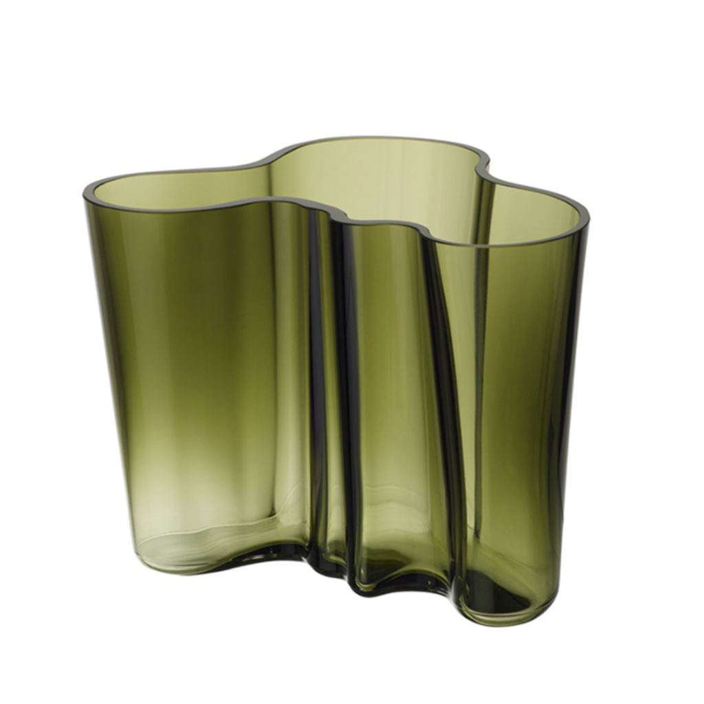 LITTALA  Vase en verre Aalto 6.75''X 5.5'' - Vert mousse