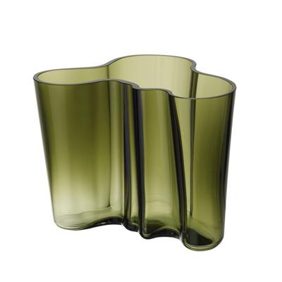 LITTALA Aalto Glass Vase 6.75''X 5.5'' - Moss Green