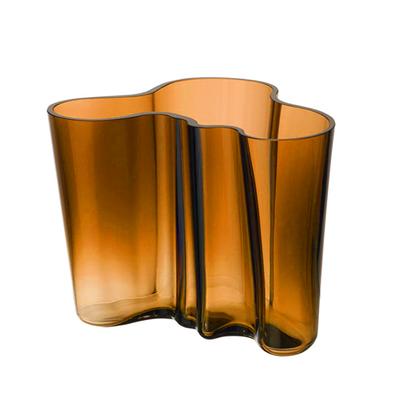 IITTALA Aalto Glass Vase 6.75''X5.5'' - Copper