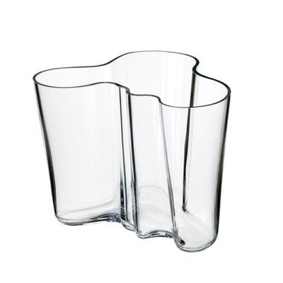 LITTALA Aalto Glass Vase 6.25''X5.5'' - Clear