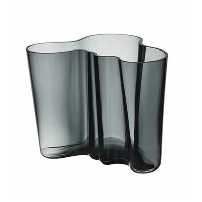 IITTALA Vase en verre Aalto 6.75''X 5.5'' - Gris fumé