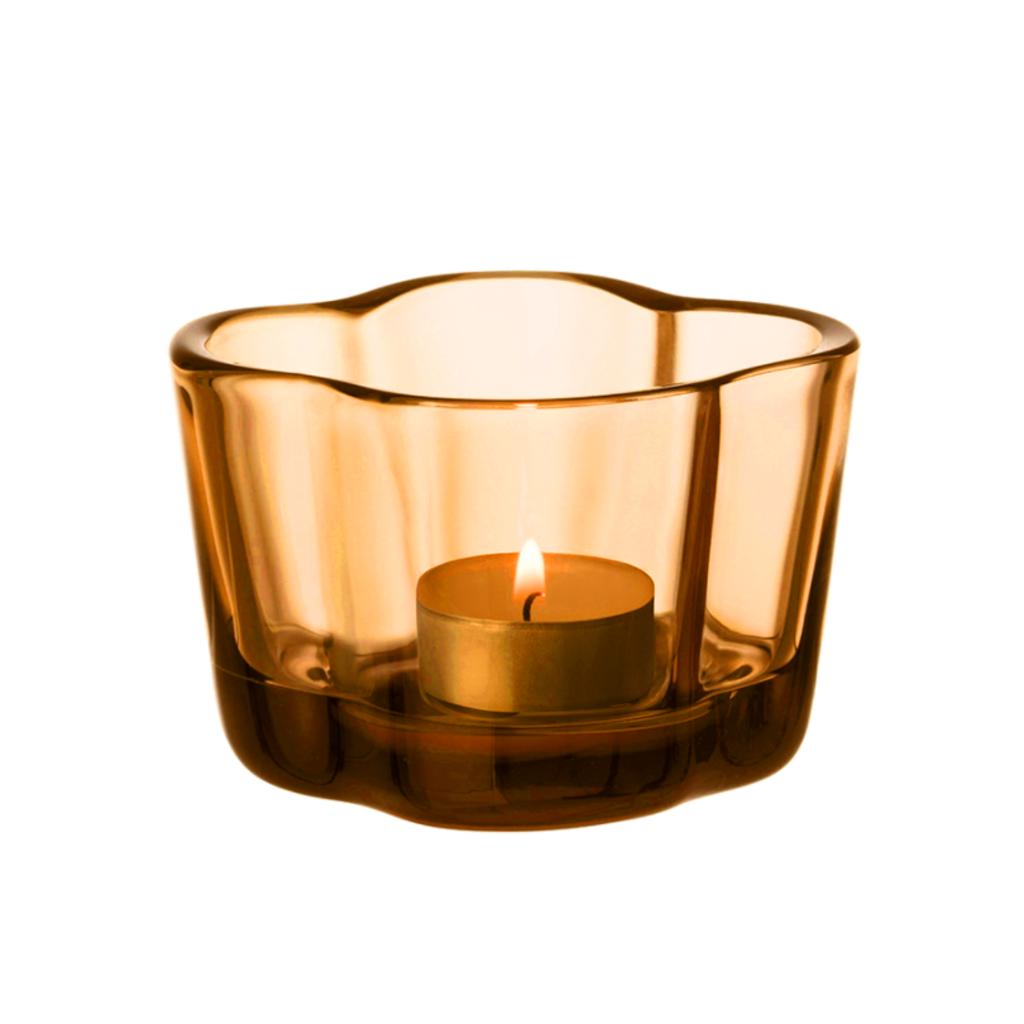 IITTALA  AALTO TEALIGHT CANDLEHOLDER 2.25'' - ORANGE