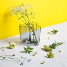 IITTALA  Aalto Glass Vase 6.25''X5.5'' - Blue/Grey