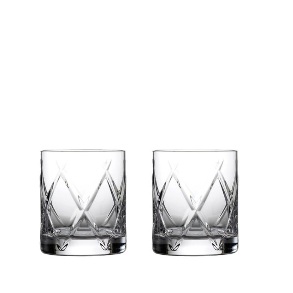 WATERFORD Olann Verres à Whisky Double Old Fashioned, ensemble de 2