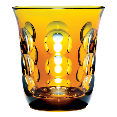CHRISTOFLE Kawali Gobelet Ambre en Cristal Chaque 3 2/3'' - 6 3/4 oz