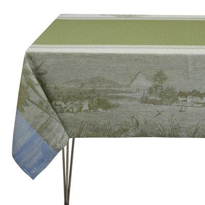 """LE JACQUARD FRANCAIS Croisière Sur Le Nil Tablecloth 69"""" X 98"""" Palm"""