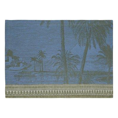 """LE JACQUARD FRANCAIS Croisière Sur Le Nil Placemat 20"""" X 14"""" Palm"""