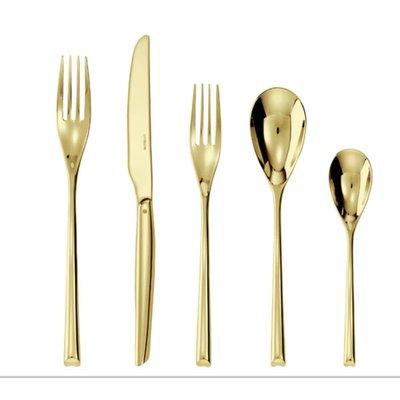 SAMBONET Service de table 5 pièces H-Art Satin Gold S.H. Couverts en acier inoxydable