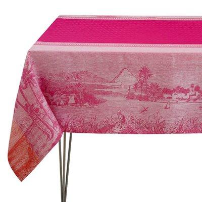 """LE JACQUARD FRANCAIS Croisière Sur Le Nil Tablecloth 69"""" X 126"""" Orchid"""