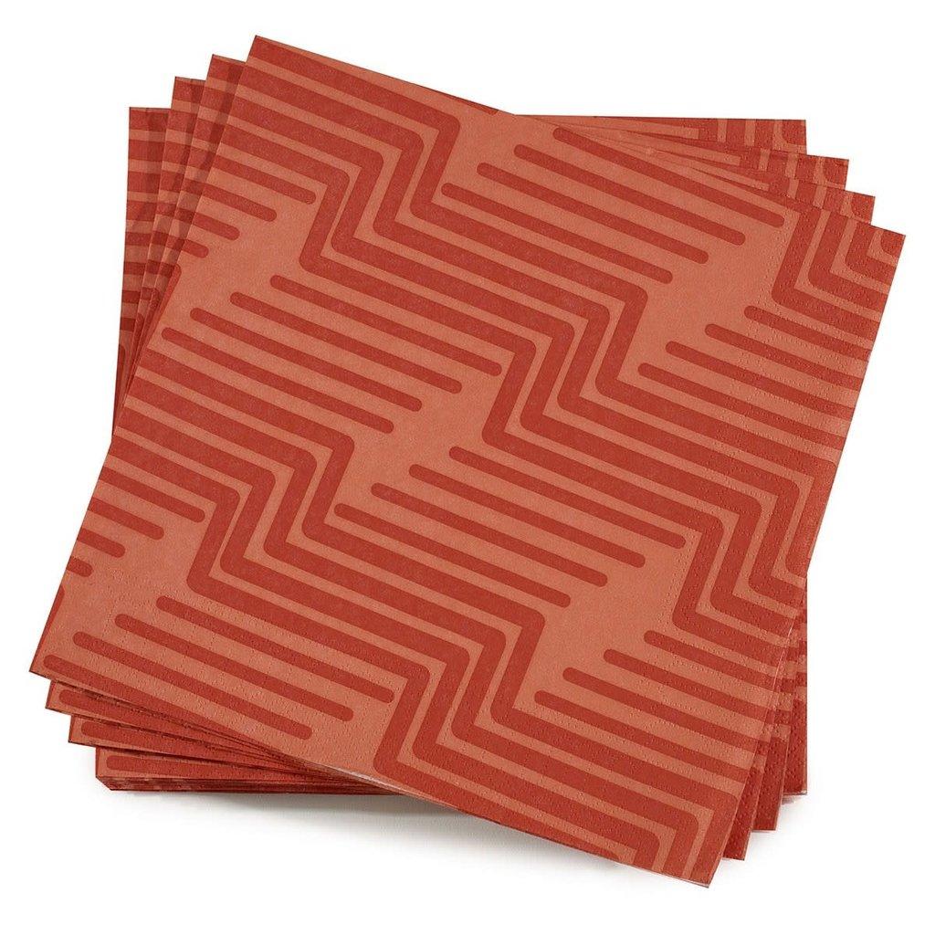 LE JACQUARD FRANCAIS Serviettes en papier biodégradables Nature Urbaine 16'' X 16'' Quartz