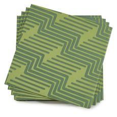 LE JACQUARD FRANCAIS Serviettes en papier biodégradables Nature Urbaine 16'' X 16'' Green