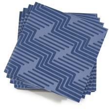 LE JACQUARD FRANCAIS Serviettes en papier biodégradables Nature Urbaine 16'' X 16''  Bleu Électrique