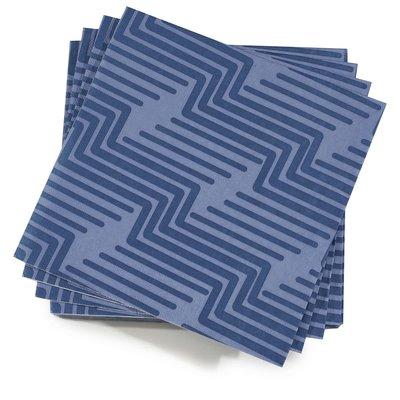 LE JACQUARD FRANCAIS Nature Urbaine Biodegradable Paper Napkin 16'' X 16'' Electric Blue