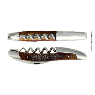 FORGE DE LAGUIOLE Sommelier knife, satin finish with Barrel oak handle