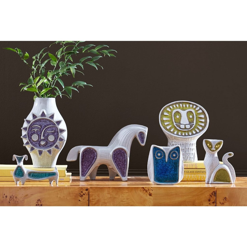 JONATHAN ADLER  Glass Menagerie Horse - Silver & Purple