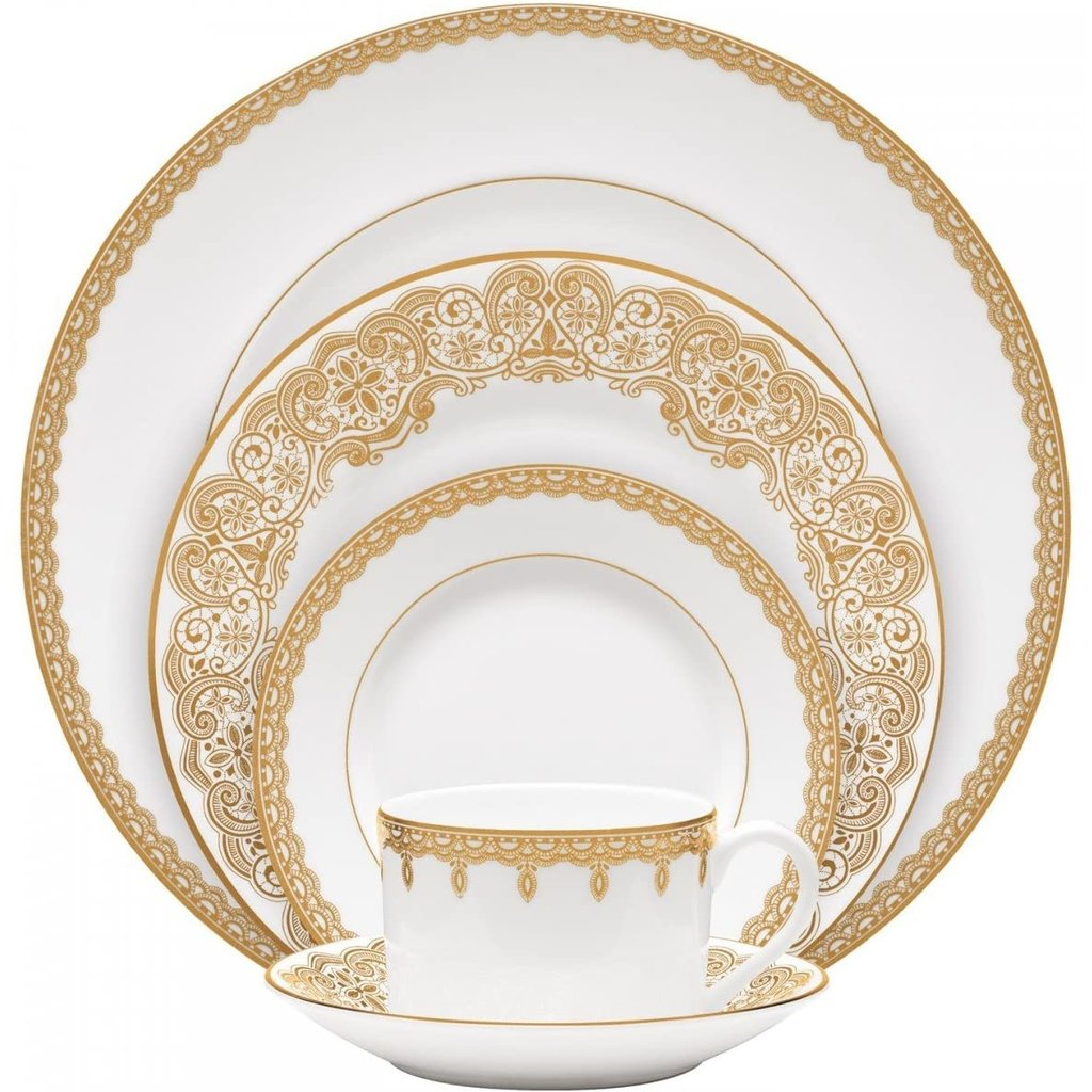 WATERFORD Lismore Lace Gold 5-Piece Place Setting