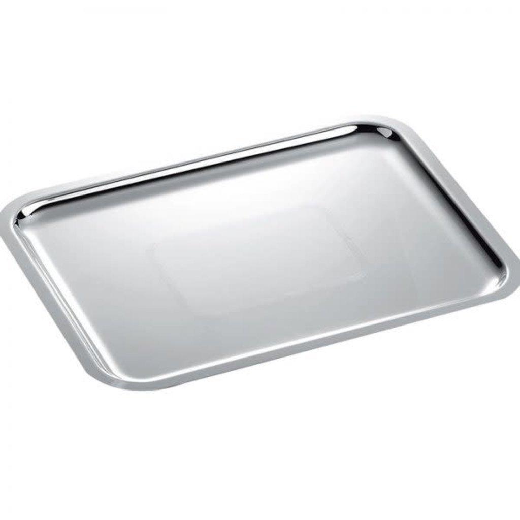CHRISTOFLE Fidélio Rectangular Silver Plated Tray Each 14 1/6 x 11 ''