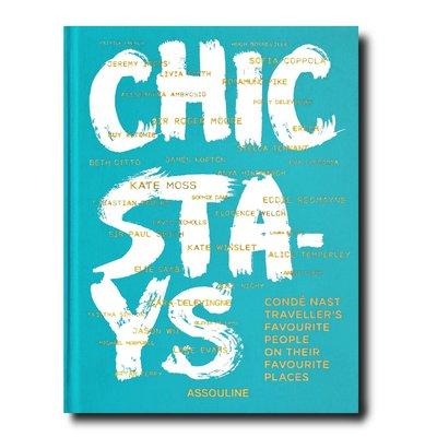 ASSOULINE Chic Stays, Author: Condé Nast Traveller. W 9.88 x L 12.99 x D 1.53 in