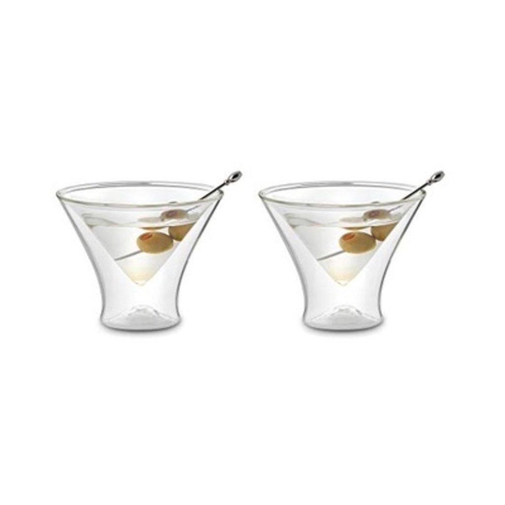 FOX RUN Double Wall Martini Glass Set of 2