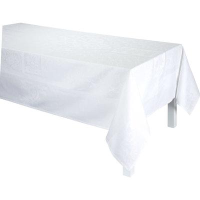 LE JACQUARD FRANCAIS Siena Tablecloth 69'' X 126'' White